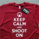 "1791 Apparel's New ""Keep Calm And Shoot On"" Shirt"