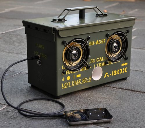 ammo can speaker box & DIY Surplus Ammo Can Speaker Box Ammo Can Boom Box | Armory Blog Aboutintivar.Com