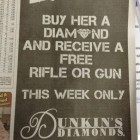 Buy a Diamond Get A Free Gun
