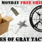Shades of Gray Tactical Cyber Monday Free Shipping Sale