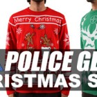 LA Police Gear Ugly Christmas Sweaters