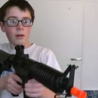 Kid Shoots Monitor with Airsoft Gun