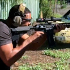 Will Smith Shooting an AR-15